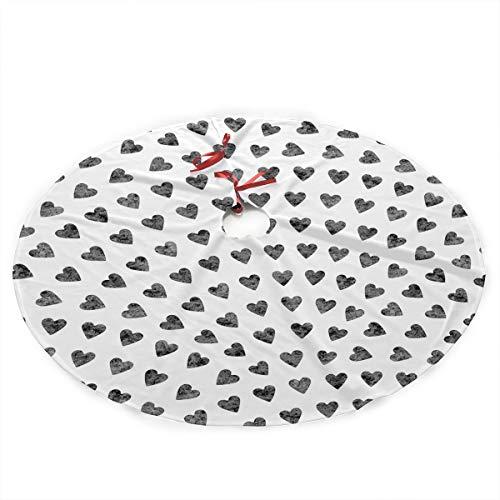 Luxury Soft Snow Christmas Tree Skirt Printable Giftwrap Holiday Print Tree Skirt Holiday Ornament (Diameter :90 Cm/35.5 Inch) ()
