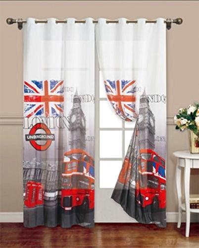 tenda interno arredamento casa tessuto londra new york citt/à 140x280 oscurante x1 pannello 140x280, London