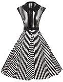 GownTown Women's 50's Cap Shoulder Knee-Length Vintage Church Dresses