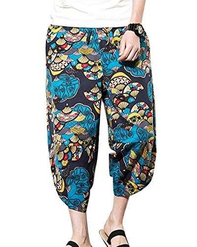 Fashion Gli Fiore Spiaggia Tempo Harem Lino Armeegrün1 Di Vintage Casuale Il Pantaloni Per Bloomers 4 Estate Libero Uomini 3 4xw4qrY0
