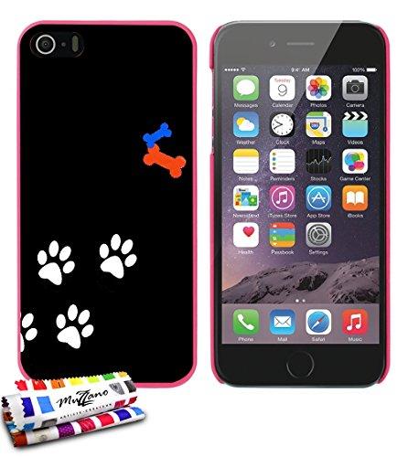 Ultraflache weiche Schutzhülle APPLE IPHONE 5 [Hund] [Bonbonrosa] von MUZZANO + STIFT und MICROFASERTUCH MUZZANO® GRATIS - Das ULTIMATIVE, ELEGANTE UND LANGLEBIGE Schutz-Case für Ihr APPLE IPHONE 5