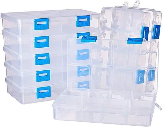 BENECREAT 8 Pack 8 Compartimientos Caja Ajustable de Plástico ...