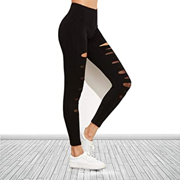ZCJB Pantalones Yoga Mujer Hollow Burnt Flower Sexy Leggings ...