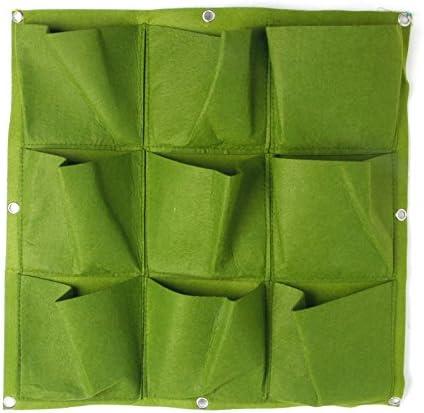 Poliestere Green 50 x 50cm//19.69 x 19.69 LANDUM a forma di vaso bag Outdoor 9/indoor balcone erbe giardino verticale parete verde