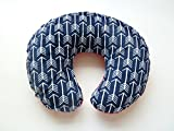 Nursing Pillow Cover. Navy Arrow Cuddle. You choose the Dimple Dot back. Back is pictured in Red Dimple Dot.