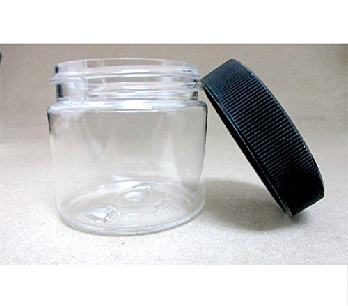 24 PET Plastic 2 Oz Empty Clear Containers Cosmetic Jar C...
