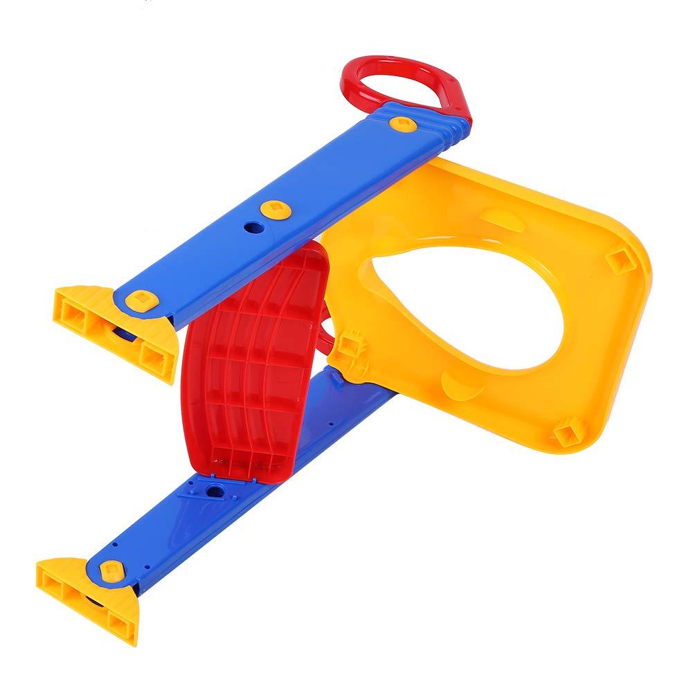 Asiento de inodoro port/átil para entrenamiento de beb/é con escalera y taburete de entrenamiento antideslizante y ajustable para ni/ños