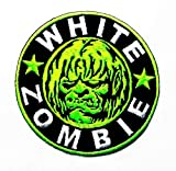 White Zombie Heavy Metal Punk Rock Music Band Logo Patch Sew Iron on Embroidered Appliques Badge Sign Costume...