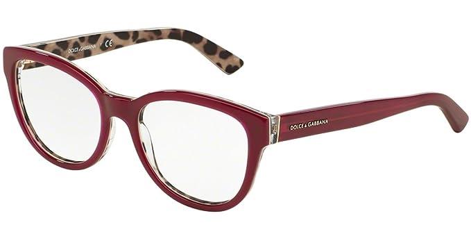 1adaf77165ec Image Unavailable. Image not available for. Colour  Dolce   Gabbana  Enchanted Beauties Eyeglasses DG3209 2882 Top Opal Bordeaux Leo 53 ...