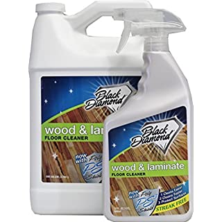 Black Diamond Stoneworks Wood & Laminate Floor Cleaner: For Hardwood, Real, Natural & Engineered Flooring –Biodegradable Safe for Cleaning All Floors (1 quart/1 gallon)