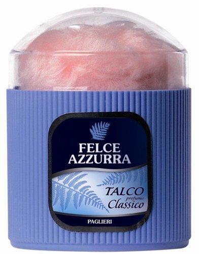 Paglieri: Felce Azzurra Talcum Powder, Classic Scent * Free Powder-Puff * [ Italian Import ] by Paglieri
