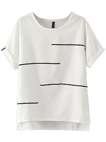 416fcd633ae2 FashMind Women s Cotton T-Shirt  Amazon.in  Clothing   Accessories
