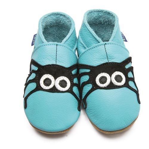 Inch Blue Chaussures Bébé Souples - Spider - Bleu Turquoise - T 17-18 cm