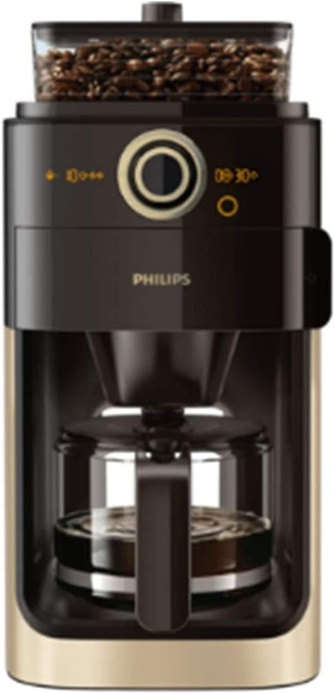 Philips Grind & Brew HD7768/90 - Cafetera (Independiente, Cafetera de filtro, 1,2 L, Molinillo integrado, 1000 W, Negro, Champán): Amazon.es: Hogar