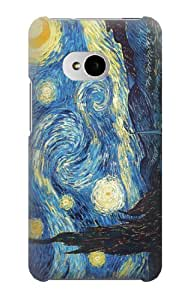 S0213 Van Gogh Starry Nights Case Cover for HTC ONE M7