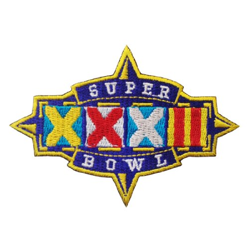 Super Bowl XXXII 32 Logo 1997 Embroidered Iron Patches (Super Bowl Xlviii Ticket Holder compare prices)