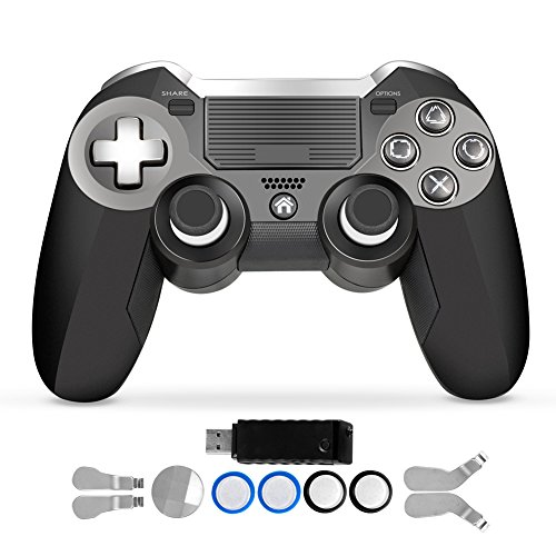 PS4 Controller,Luxury Dual Vibration Elite PS4 2.4G Wireless Game Controller Joystick for Play Station 4 Video Gaming Console and PS3