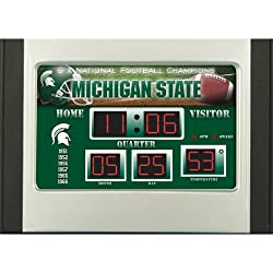 Michigan State Spartans Scoreboard Desk Clock