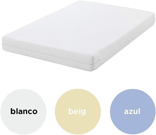 Belnou - Funda colchón elástica aitana, cama 135x190, color beige ...