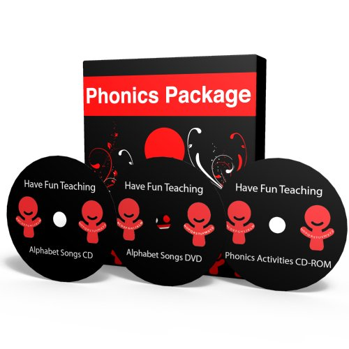 Phonics Package: Alphabet Songs CD, Phonics Activities CD and the Alphabet DVD by Have Fun Teaching (Fun Dvd Phonics)