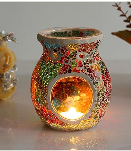 Price comparison product image Candle Holder Incense Burner Oil Lamp Cafe Bar Home Table Decorative Dinner Decor Glass