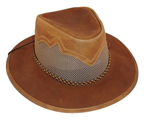 b3792808 Head 'N Home Sirocco Leather Hat (XL, Copper (Leather))