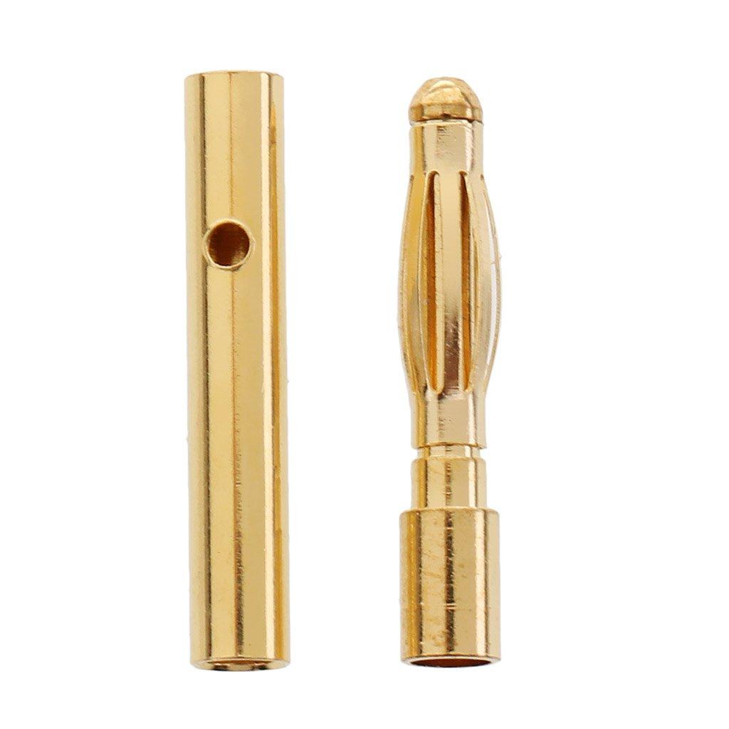 60 stk Rundstecker Bananenstecker Adapter 2mm Goldstecker für RC-Lipo ESC