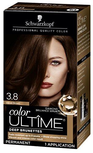 Schwarzkopf Color Ultime Hair Color Cream, 3.8 Velvet Brown, 1 Count (Packaging May Vary)