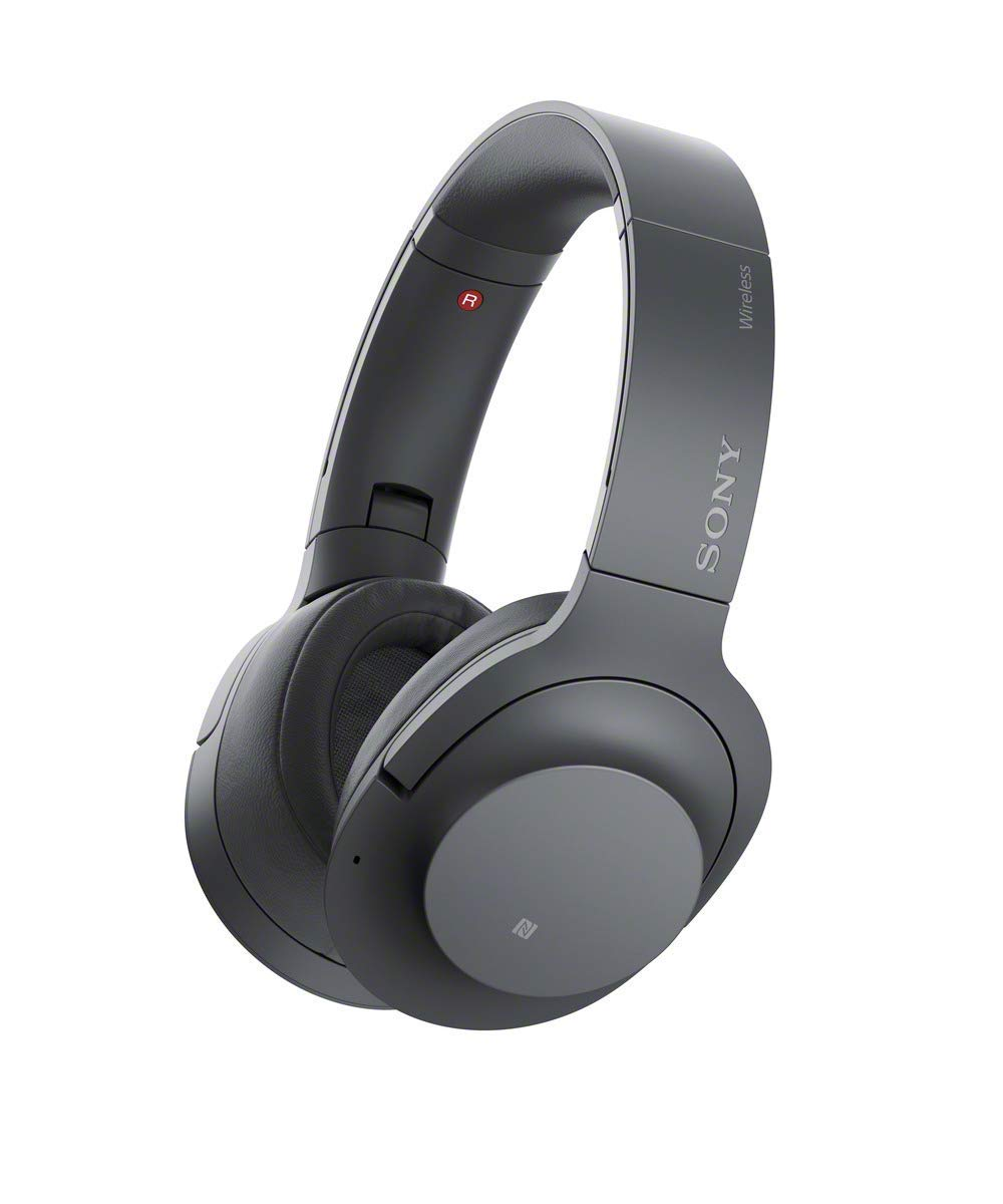 Son WHH900N Hear On 2 Wireless Overear Noise Cancelling High Resolution Headphones, 2.4 Ounce-Dark Gray
