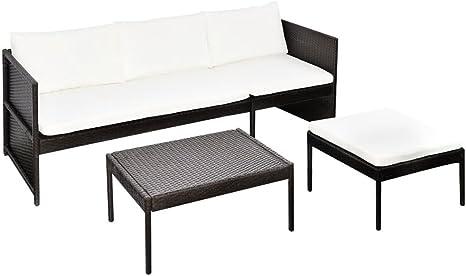 mewmewcat 9 Piezas Conjunto Muebles de Jardín con Mesa de Centro ...