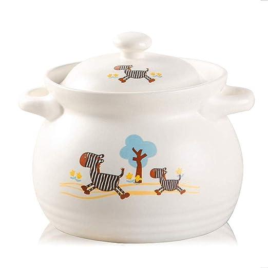 YHLZ Cazuela de cocina de cerámica de dibujos animados sopa de ...