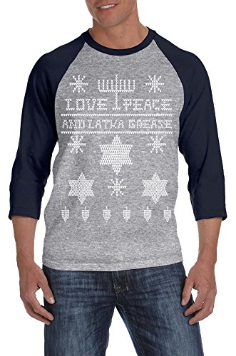 Ugly Hanukkah Sweater Raglan Shirt