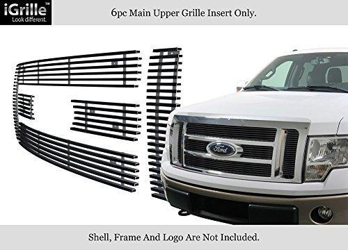 Fits 2009-2012 Ford F-150 Lariat/King Ranch Black Stainless Steel Billet Grille #F66788J