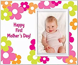 Happy First Mothers Day Picture Frame Gift Pink Daisy