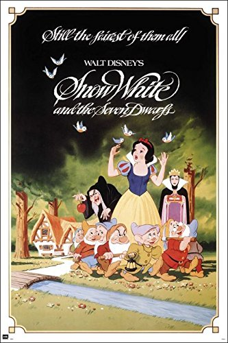 (Snow White And The Seven Dwarfs - Disney Movie Poster / Print (Regular Style) (Size: 24