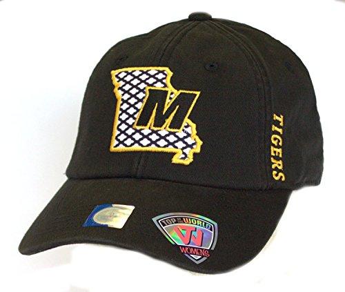 Top of the World Missouri Mizzou Tigers SideBar Adjustable Hat