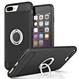 REALIKE iPhone 8 Plus Cover, Aemotoy Protective Armor Bumper W 360 Degrees Ring Kickstand Shockproof Defender Case For iPhone 8 Plus - iPhone 7 Plus