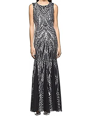Calvin Klein Womens Mermaid Open Back Ball Gown Dress Black 2