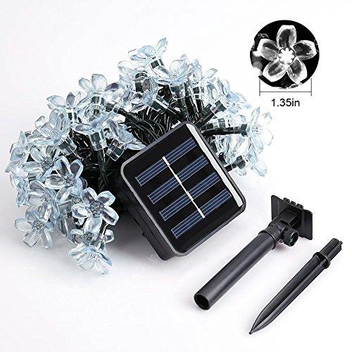 Led String Lights Home Hardware : Fozela Flower Outdoor Solar String Lights, 21feet 50 LED Fairy Blossom Christmas Lights ...
