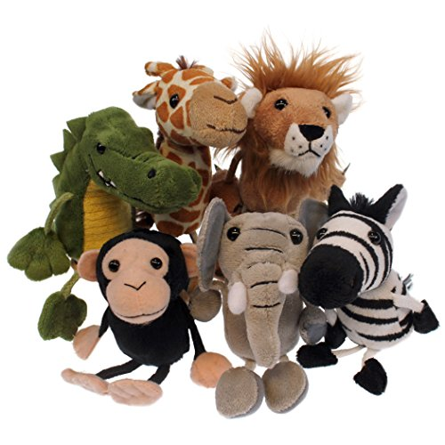 The Puppet Company African Finger Puppets Set of 6 Jungle Finger Puppets