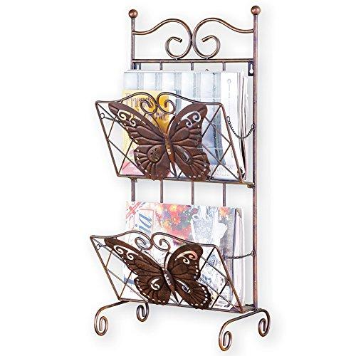 Butterfly 2-Tier Magazine Holder Rack