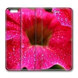 Brain114 6 Plus, iPhone 6 Plus Case, iPhone 6 Plus 5.5 Case, Raindrops On A Flower PU Leather Flip Protective Skin Case for Apple iPhone 6 Plus 5.5