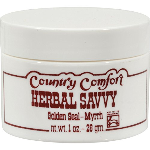 Country Comfort Herbal Savvy Golden Seal-Myrrh - Disinfecting ointment For psoriasis, eczema, hemorrhoids, burns and More - 2 oz (Pack of (Herbal Savvy Salve)