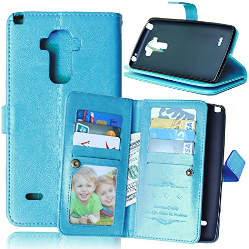 LG G Stylo Case, KAMII Magnetic Flap Closure Anti-scratch Shockproof, LuxuryPremiumPU Leather Case Flip Coverwith ID Credit Card / Cash Slots For LG G4 Stylus LS770