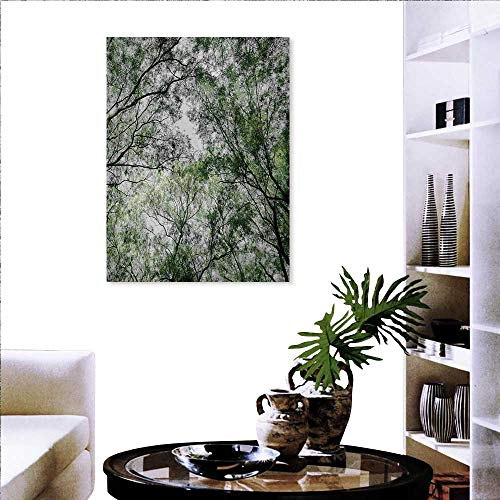 familytaste Nature Decorate Stickers for Wall Tree Branch in Spring Season Fairy Jungle Growth Nature Look Up Wood Scene Photo Print Wall Art Stickers 20