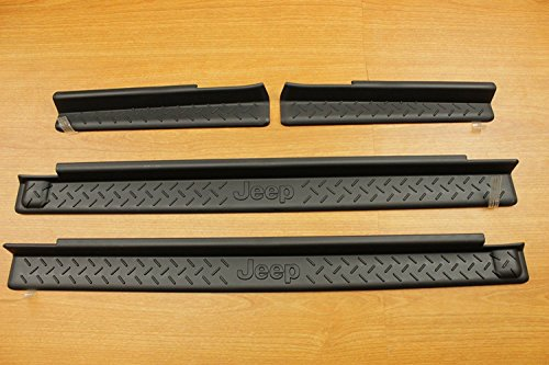 Guard Installation Kit - Jeep Wrangler 4-Door Sill Guards Black Plastic Mopar OEM 82210106