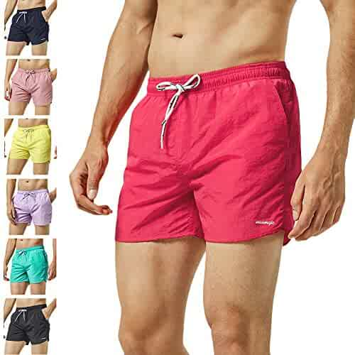 7ebc283957 MaaMgic Mens Slim Fit Shorts Quick Dry Swim Trunks with Mesh Lining Male  Bathing Suits