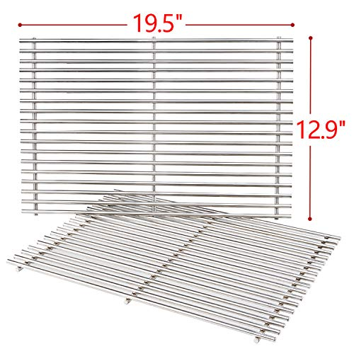 SHINESTAR 7528 Stainless Steel Grill Grates Replacement for Weber Genesis 300, 19.5