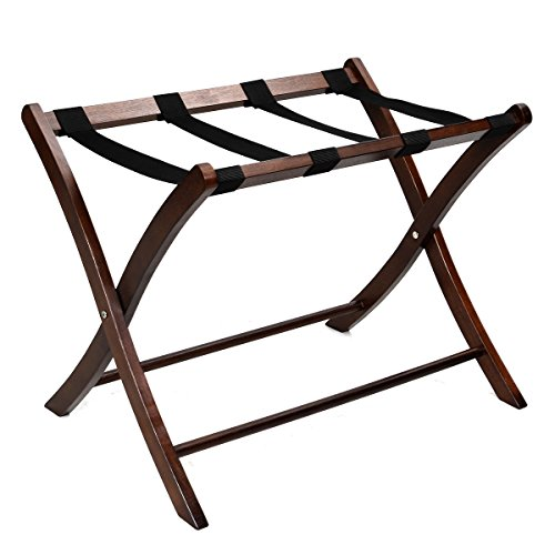 Claasic Durable Handy Folding Wood Luggage Rack For Hotel Suitcase Or Guest Bedrooms Can Be Use As A Bedside Table