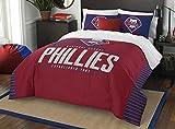 MLB Philadelphia Phillies Grand Slam Two Sham Set, Red, Full/Queen Size